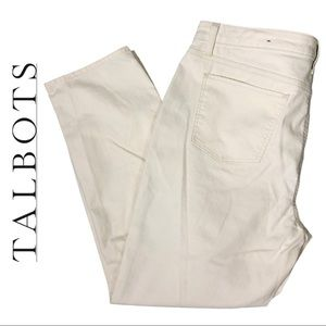 NWT Talbots Flawless Slim Ankle Casual Pant Sz 16
